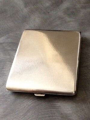 Lovely Solid Silver German Cigarette Case Circa 1900