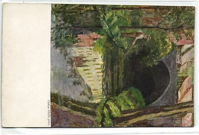 1 postkaart Bruges Le Pecheur Au Canal De Pastel Painting Featuring The Canal