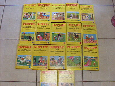 Bundle Rupert Book 17 Vintage Hardback Books
