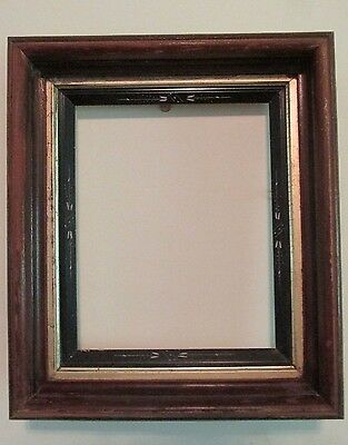 Antique Eastlake VICTORIAN WALNUT PICTURE FRAME Ebonized & Gold Liners 8x10photo