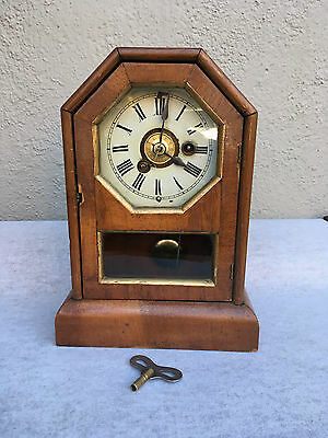 Antique Cottage Clock, Philipp, Haas and Sohne Working Order