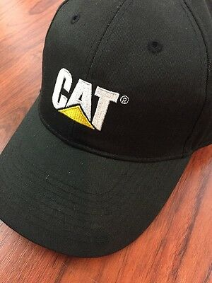 CAT Caterpillar Ball Cap | Black Adjustable Strapback Hat