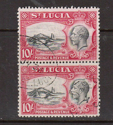 St Lucia #106 Very Fine Used Scarce Pair