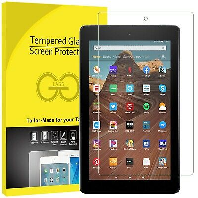 Premium Clarity Tempered Glass Screen Protector Amazon Kindle Fire HD8,HD10,HD7