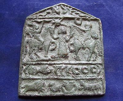 Outstanding Byzantine Bronze ICON of SAINTS & WARRIORS  12th-13th  AD  (2672-)