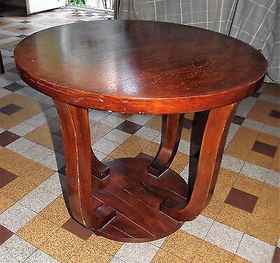Gueridon Art Deco Table Basse Ronde