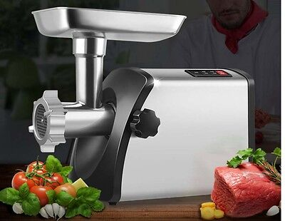 800W Commercial Stainless Steel Meat Grinder Sausage Multifunctional Mincer *