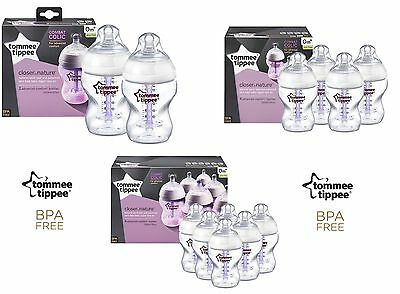Tommee Tippee Advanced Comfort Anti Colic Bottles 260ml Newborn Infants BPA free