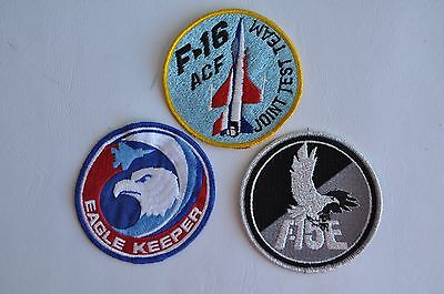 Vintage Eagle Keeper F-16 ACF Joint Test Team F-15E Patch Lot Air Force Military