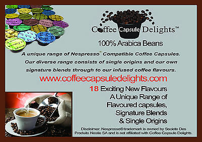45 x Nespresso Compatible Coffee Pods Capsules * EXCITING NEW FLAVOURS *