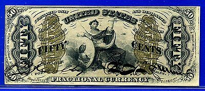 "-FR1356 Third Issue 50 Cent ** Choice-UNC ** FRACTIONAL Surcharge ""A-2-6-5"" Back"