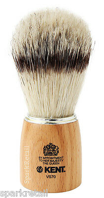 Kent Natural Beechwood Pure Boar Bristle Badger Effect Large SHAVING BRUSH VS70