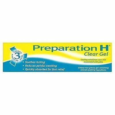 Preparation H 3 Way Action Clear Gel  50g - Choice of  1, 2, 3, or 6 Packs