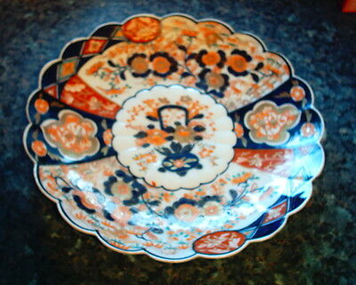 Antique Scalloped Large Japanese Imari  Charger