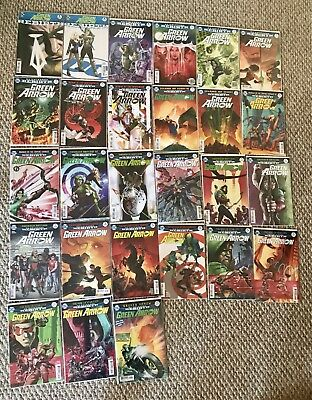 Green Arrow Rebirth 1-25 lot + 2 different Rebirth one-shot covers! Never read!