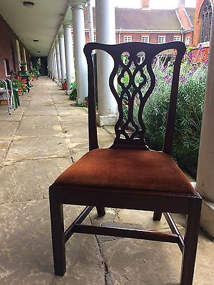 Set of 4 Chippendale style dining chairs