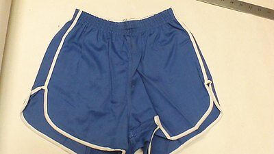 Vintage 60'S Russell Athletic 100% cotton gym Short COL. BLUE MADE IN THE USA