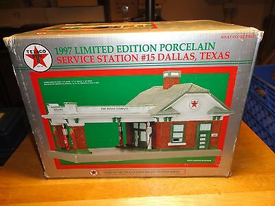 Texaco 1997 Limited Edition Porcelain Service Station #15 Dallas - Mint In Box