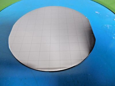 "4"" Silver Silicon Wafers With Squares Lot of 7"