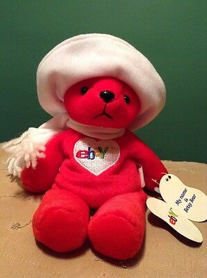 eBay Limited Edition Holiday 2000 Betsy Bear Beanbag Red Plush NWT