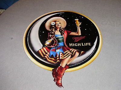 Miller High Life Beer Sign Classic Miller Beer Heritage Sign Girl On Moon New