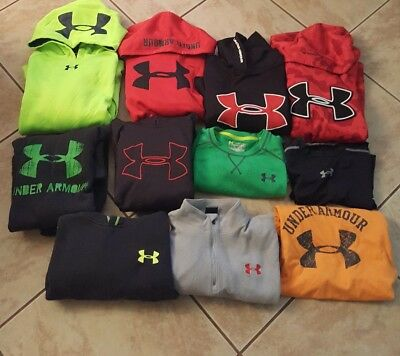 (11 piece) Boys YLG Large Under Armour Hoodie  L/S Shirt Lot Winter Fall