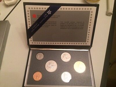 1989 Canada Proof Set, Gem Coins, With Case and Sleeve