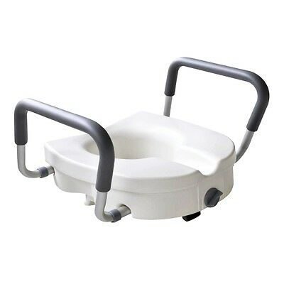 Glacier Bay Adjustable Universal Elevated Safety Toilet Seat w/Support Arms C630