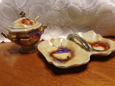 Vintage Enesco Jam Jar And Candy Dish, From Japan