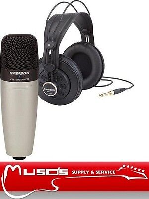 Samson CO1+SR850 Studio Microphone + Headphones $99 +postage ($10 for Sydney)