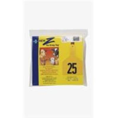 Z Tags Calf YELLOW #1-25 25 Ct. Easy Application