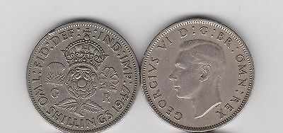 1947 England (UK) -  2 Shillings   King George VI