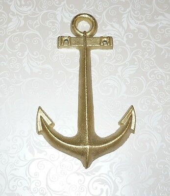 Gold Anchor, Nautical Wall Art, Heavy Cast Iron, Home Decor, Large, NEW!