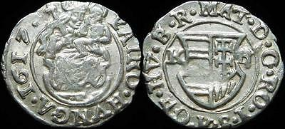 Medieval Hungary Silver Denar Matthias 1608-1620 AD Dated 1617 Coat of Arms