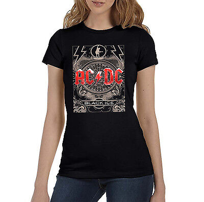 NEW /& OFFICIAL! AC//DC /'Black Ice/' Womens Burnout T-Shirt