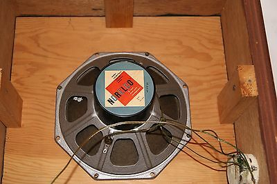 Vintage tube amp era Philips Norelco 8 inch dual cone speaker