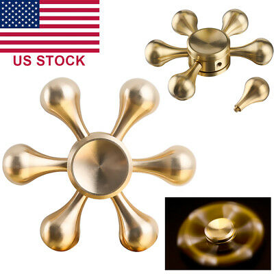 Fidget Hand Spinner EDC Alloy Bearing High Speed Toy Adult Kids Silvery DIY Gift