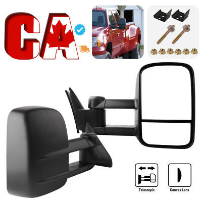 Pair for 99-02 Chevy Silverado Sierra Tahoe Tow Power Heated Extendable Mirrors