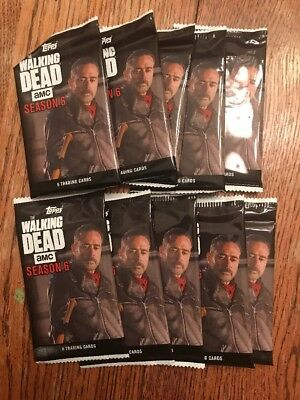 10 - 2017 The Walking Dead Season 6 Topps Trading Cards Packs FACTORY SEALED