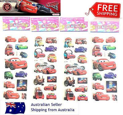 Cars 95 Macqueen kids 3D stickers gift lolly bag filler birthday party loot bag