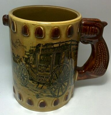 Wells Fargo Wills Fargo Pistol Stagecoach Mug 16oz  Coffee Cup