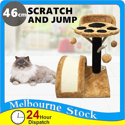Cat Tree Scratching Post Scratcher Pole Gym Toy House Furniture M 46cm