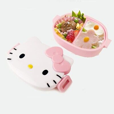 Sanrio Hello Kitty Face Bento Lunch Box Food Container Storage Skater Pink