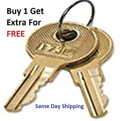 2 Toolbox Keys Pre-Cut To Your Key Code CH501-CH550 Truck Toolbox