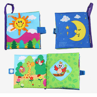 1 PC Early Plush Sun Cloth Books Learning Colorful lovely Kids Educational Toy