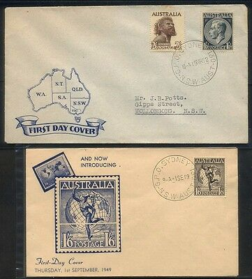 FDC 1949 Hermes and 1952 1/0 1/2d and 2/6d Covers