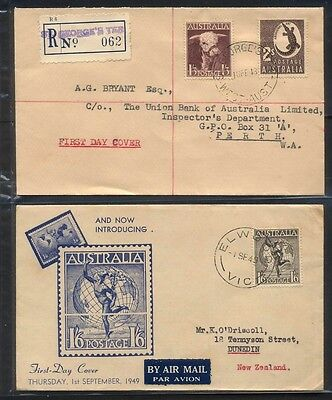 FDC 1948 1/3d Bull and 2/- Crocodile and 1949 Hermes Cover