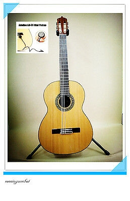 Solid Top SCG-978/N Nylon String Student Classical Guitar W  AD-30 Mini Pickup