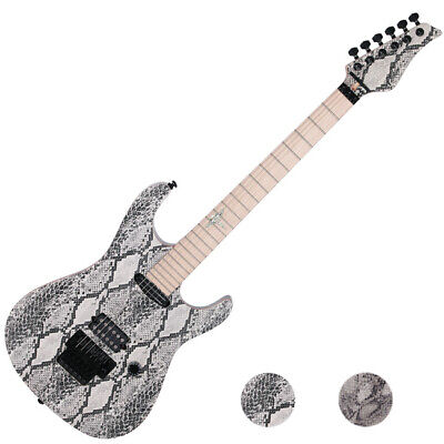 Reedoox Snake Skin 2014 FR Floyd Rose Push Pull Unique Graphic Electric Guitar