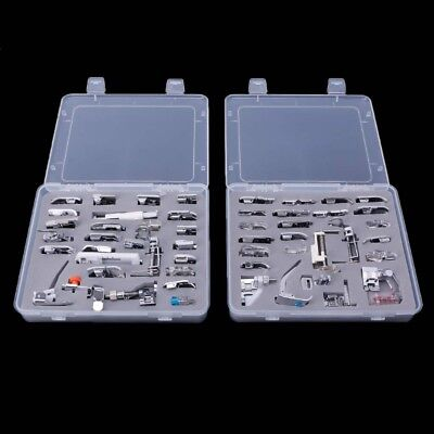 52pcs Domestic Sewing Machine Foot Presser Feet Set For Singer Janome Brother